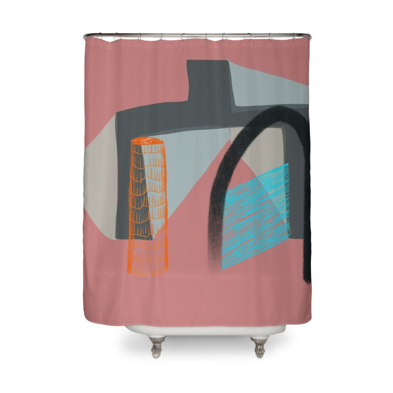 Imaginary Architecture 2 Home Shower Curtain by Michael Pfleghaar