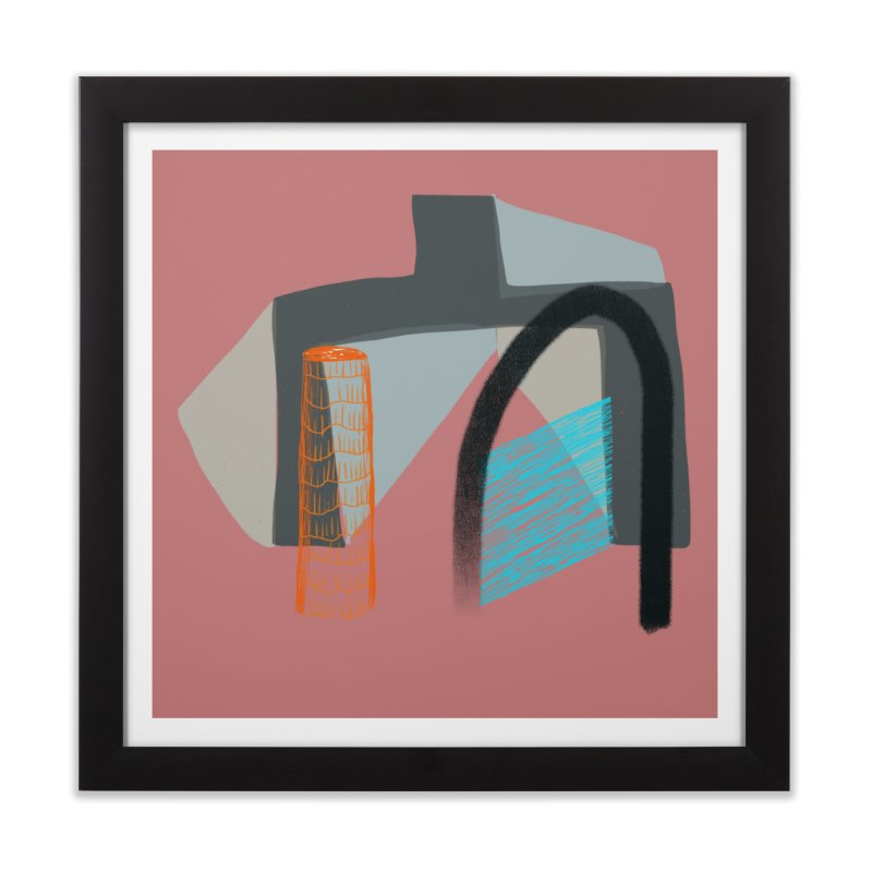 Imaginary Architecture 2 Home Framed Fine Art Print by Michael Pfleghaar