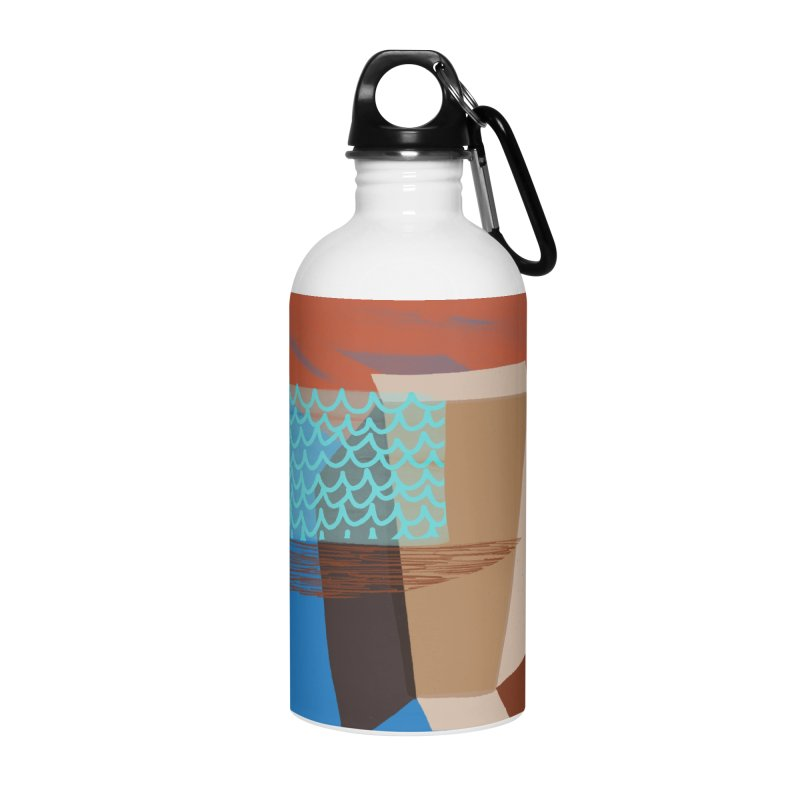 Imaginary Architecture 3 Accessories Water Bottle by Michael Pfleghaar