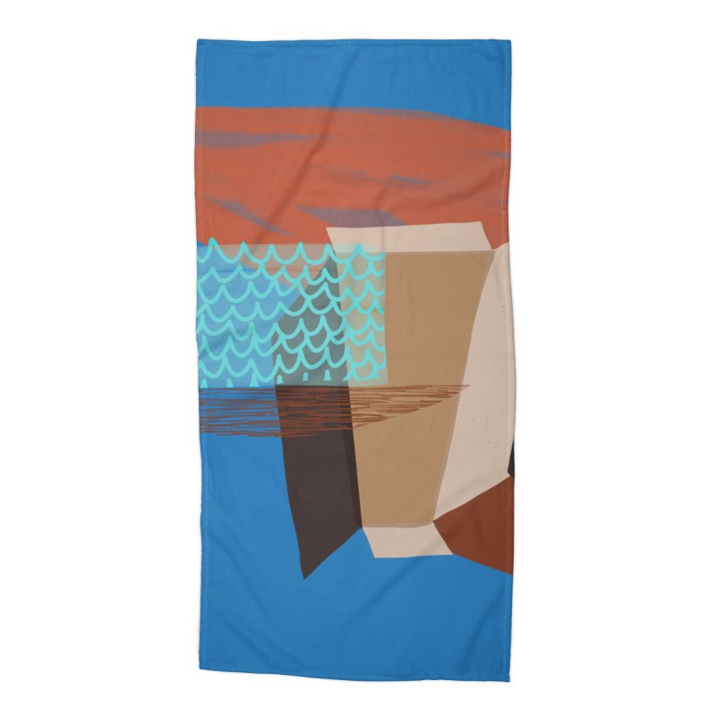 Imaginary Architecture 3 Accessories Beach Towel by Michael Pfleghaar