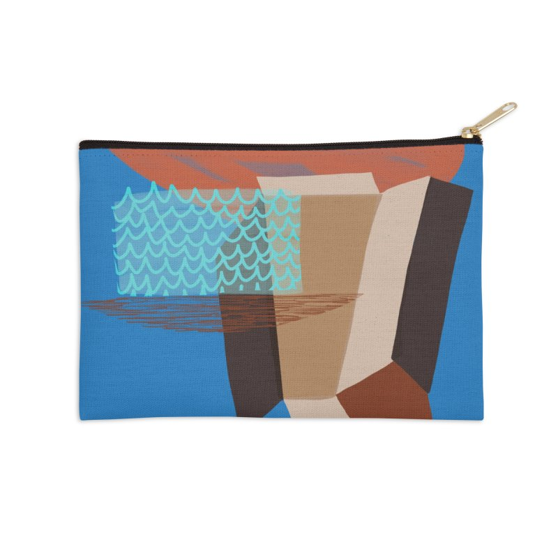 Imaginary Architecture 3 Accessories Zip Pouch by Michael Pfleghaar