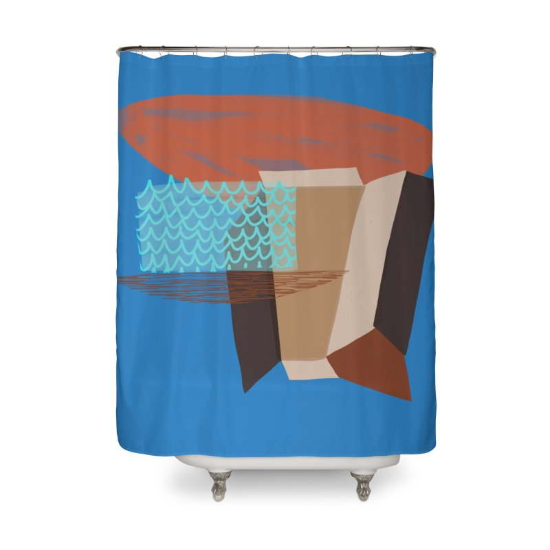 Imaginary Architecture 3 Home Shower Curtain by Michael Pfleghaar