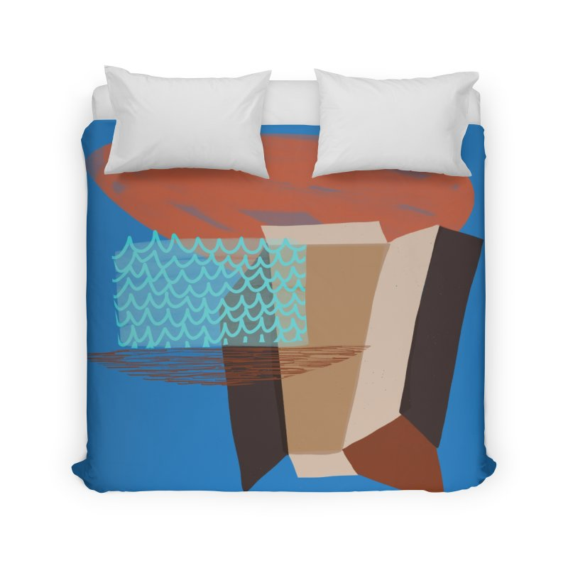 Imaginary Architecture 3 Home Duvet by Michael Pfleghaar