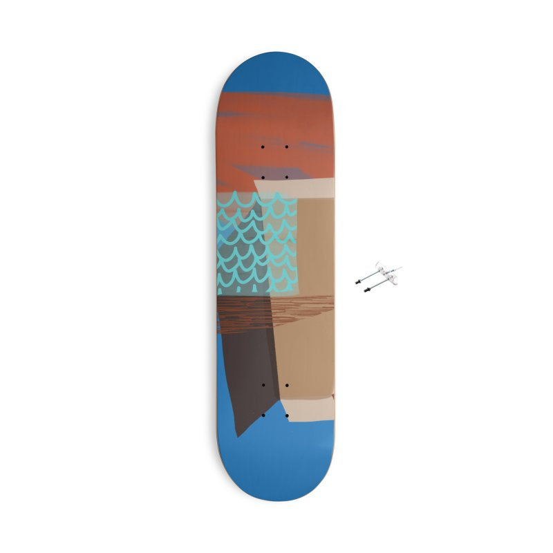 Imaginary Architecture 3 Accessories With Hanging Hardware Skateboard by Michael Pfleghaar