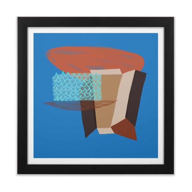Imaginary Architecture 3 Home Framed Fine Art Print by Michael Pfleghaar