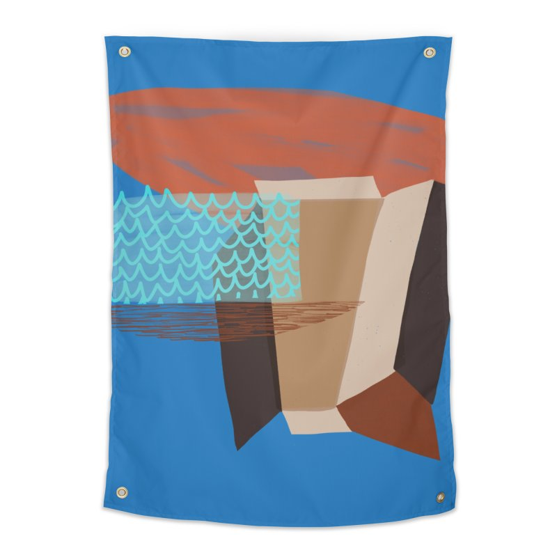 Imaginary Architecture 3 Home Tapestry by Michael Pfleghaar
