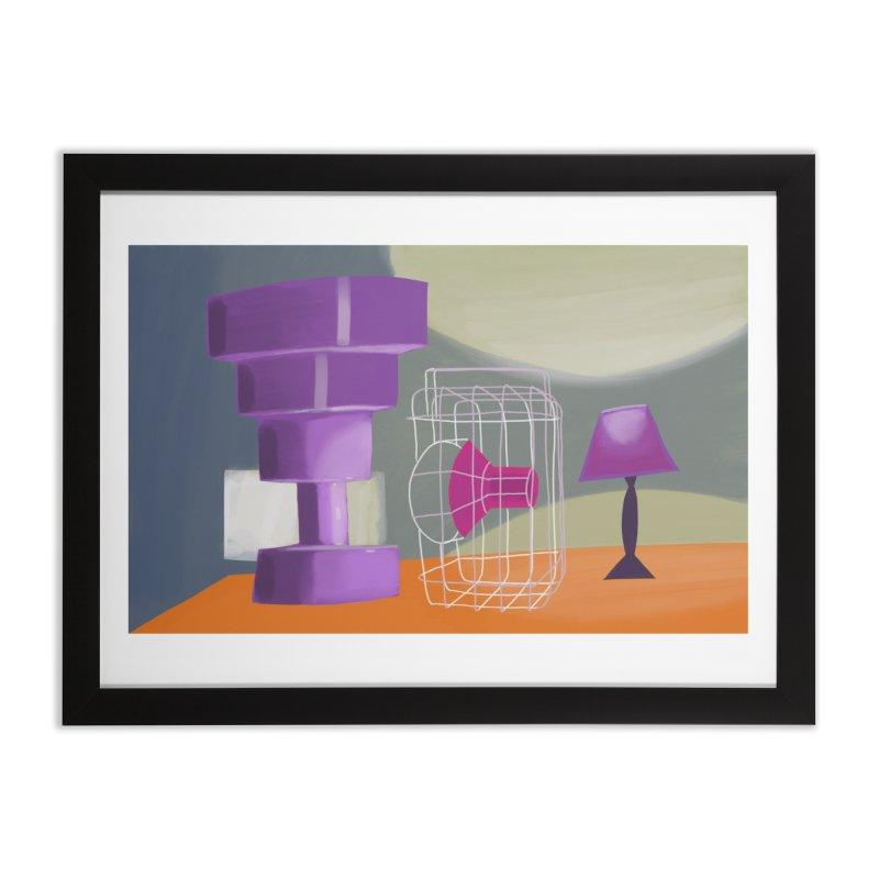 Postmodern Still Life Home Framed Fine Art Print by Michael Pfleghaar