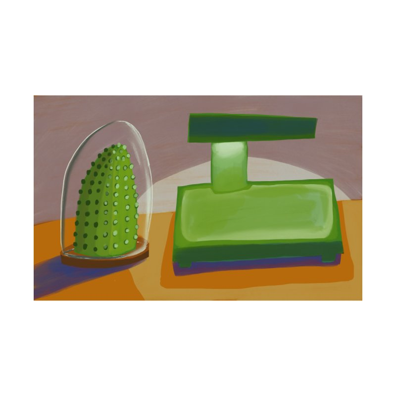 Cactus and Lamp by Michael Pfleghaar