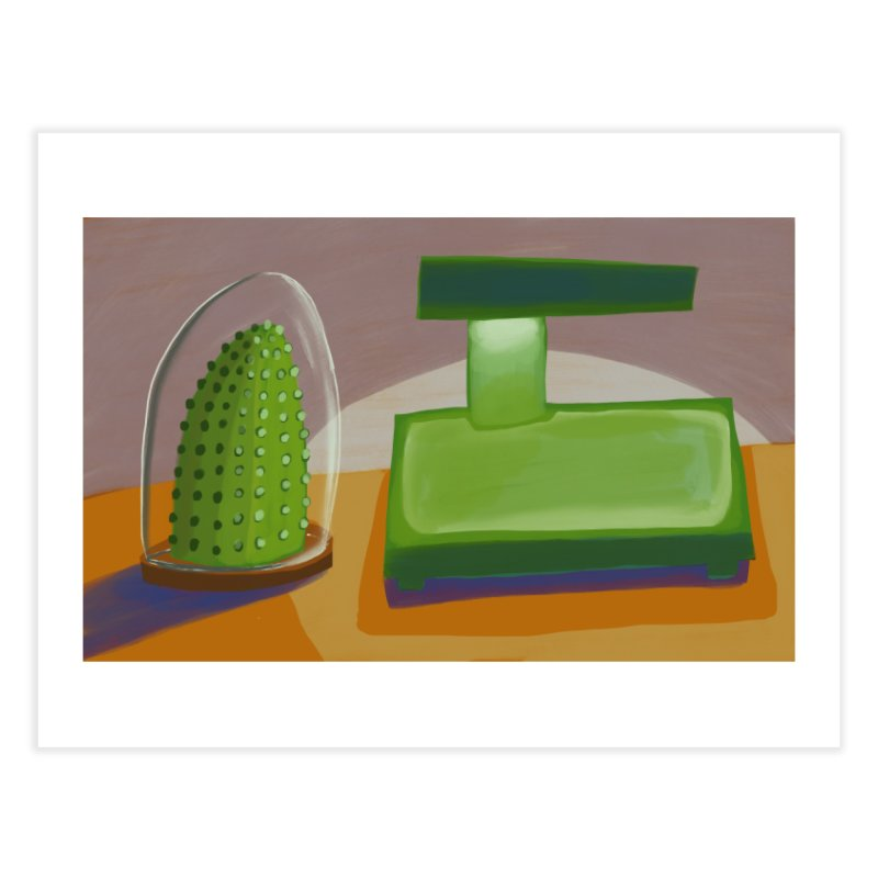 Cactus and Lamp Home Fine Art Print by Michael Pfleghaar