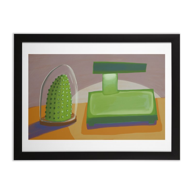 Cactus and Lamp Home Framed Fine Art Print by Michael Pfleghaar