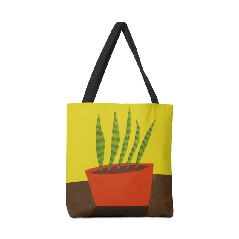 Snake Plant in Red Pot in Tote Bag by Michael Pfleghaar
