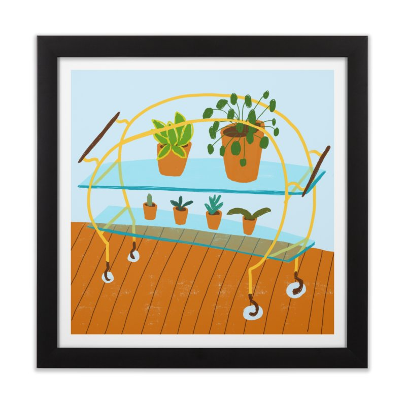 Brass and Glass Plant Stand 2 Home Framed Fine Art Print by Michael Pfleghaar