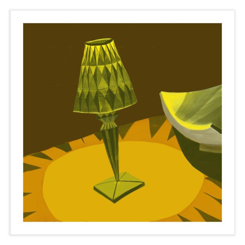 Jeweled Lamp and Bowl Home Fine Art Print by Michael Pfleghaar