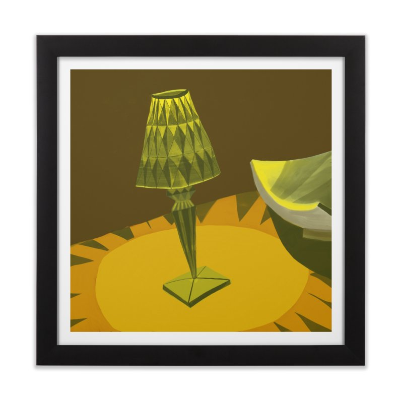 Jeweled Lamp and Bowl Home Framed Fine Art Print by Michael Pfleghaar