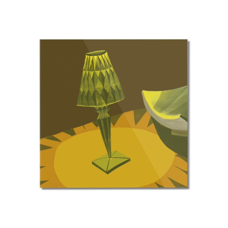 Jeweled Lamp and Bowl Home Mounted Acrylic Print by Michael Pfleghaar