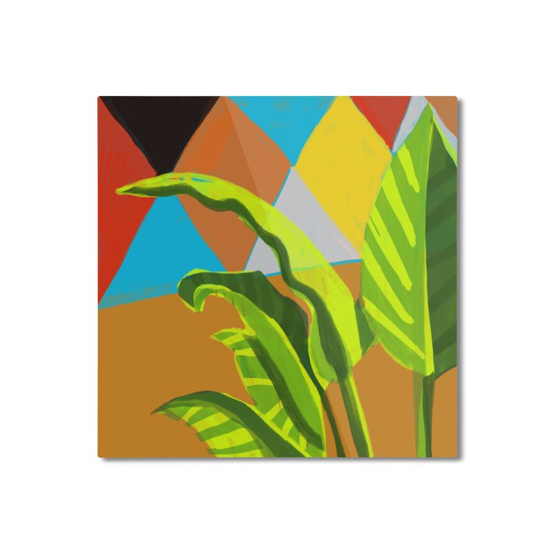 Dieffenbachia and Diamonds Home Mounted Aluminum Print by Michael Pfleghaar