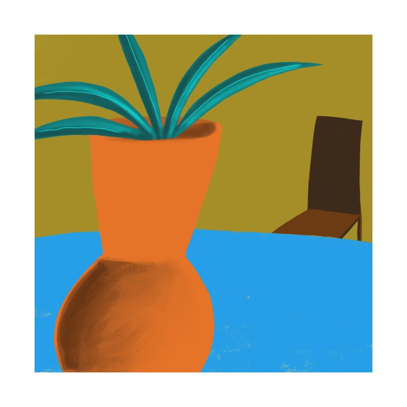 Orange Vase by Michael Pfleghaar