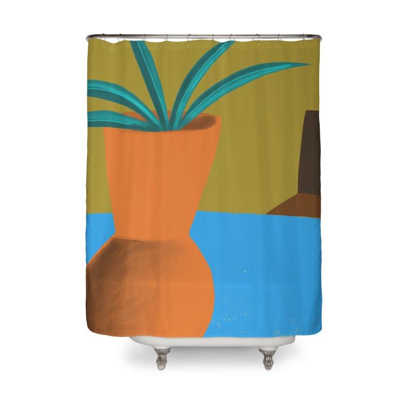 Orange Vase Home Shower Curtain by Michael Pfleghaar