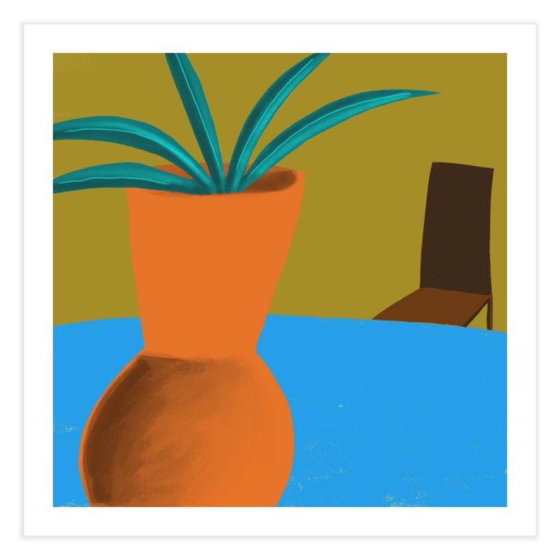 Orange Vase Home Fine Art Print by Michael Pfleghaar