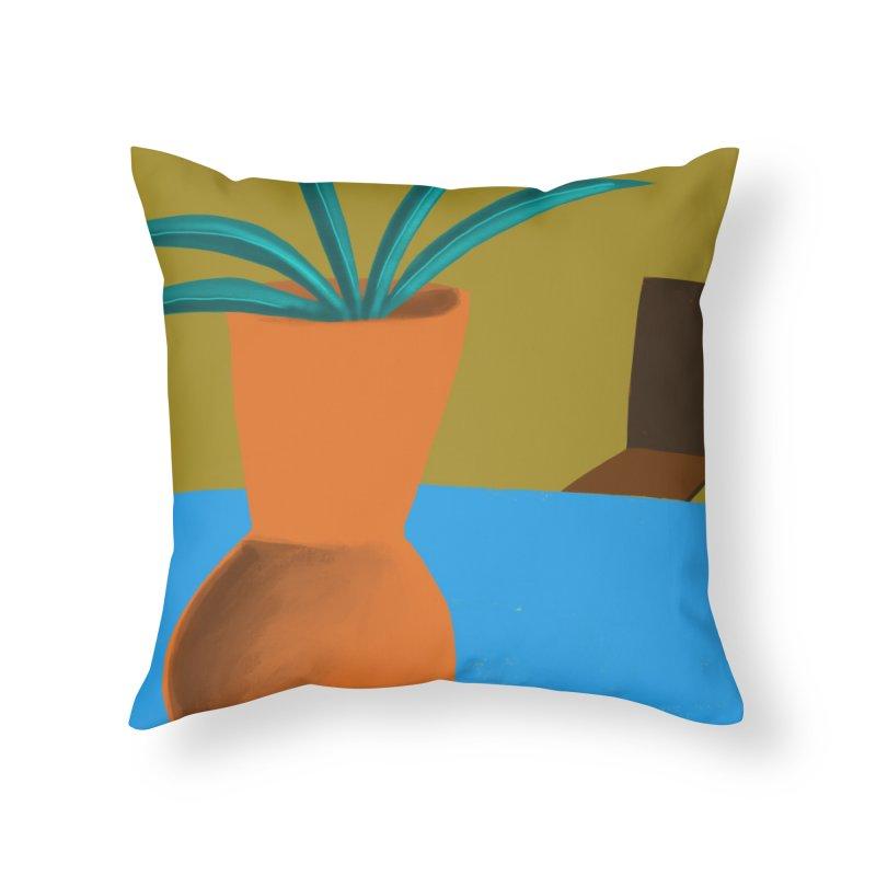 Orange Vase Home Throw Pillow by Michael Pfleghaar
