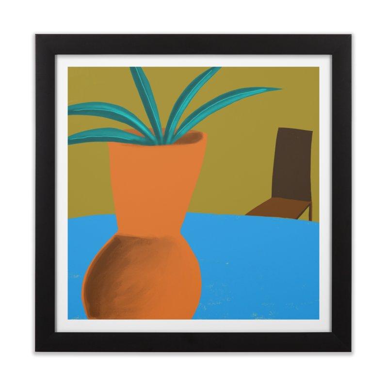 Orange Vase Home Framed Fine Art Print by Michael Pfleghaar