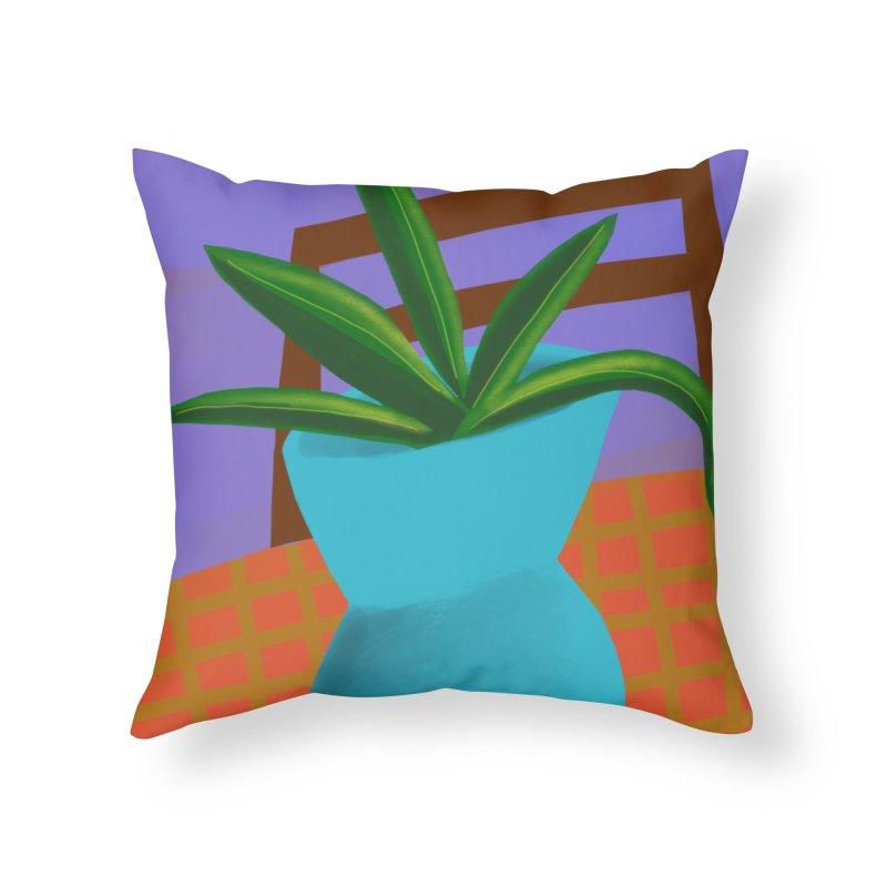 Blue Vase Home Throw Pillow by Michael Pfleghaar