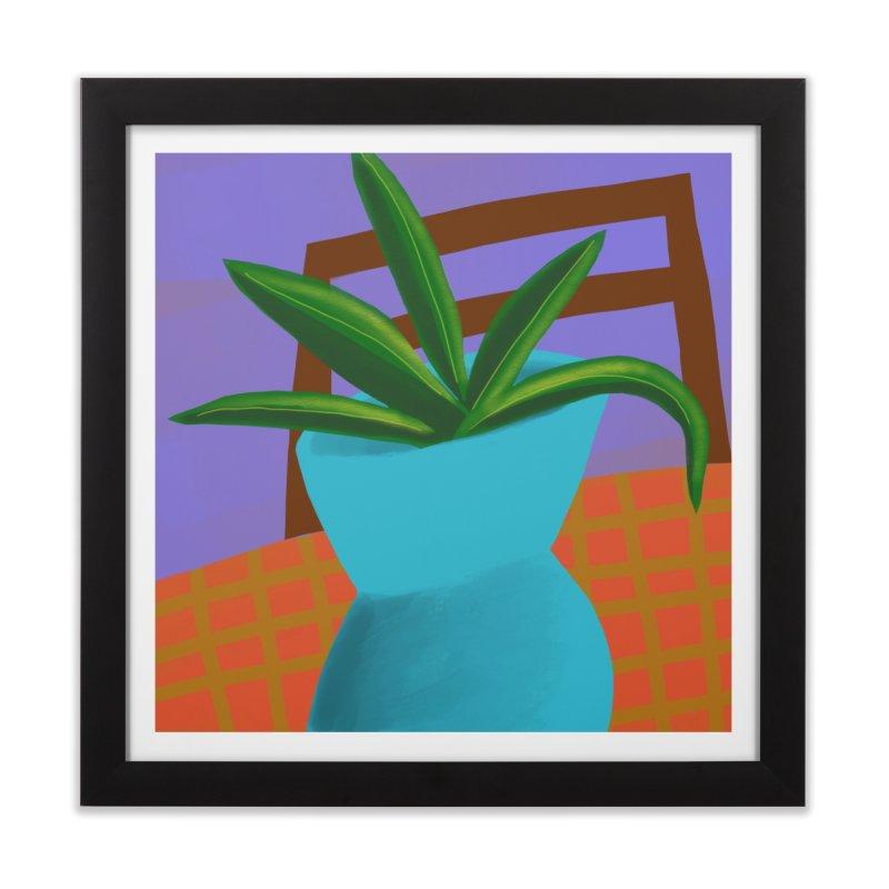 Blue Vase Home Framed Fine Art Print by Michael Pfleghaar