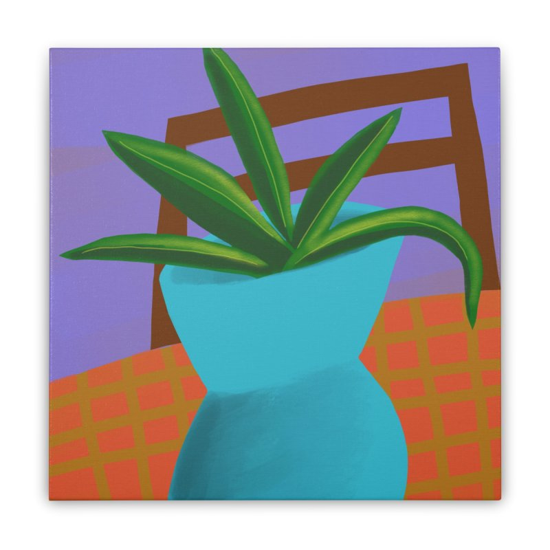 Blue Vase Home Stretched Canvas by Michael Pfleghaar