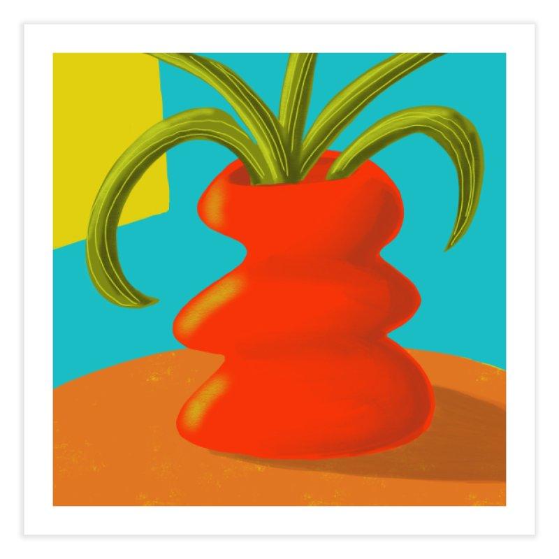 Red Vase Home Fine Art Print by Michael Pfleghaar