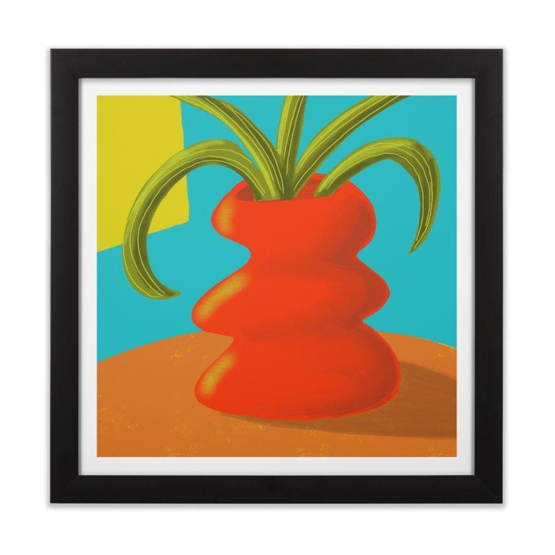 Red Vase Home Framed Fine Art Print by Michael Pfleghaar