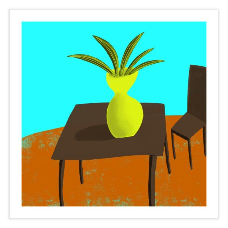 Yellow Vase Home Fine Art Print by Michael Pfleghaar