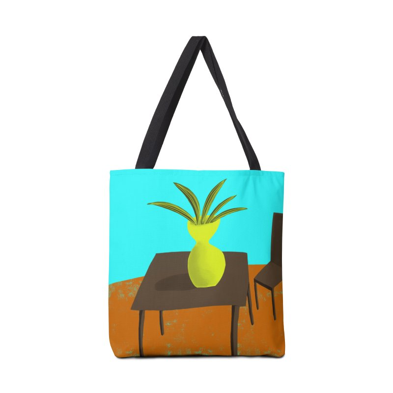 Yellow Vase Accessories Bag by Michael Pfleghaar