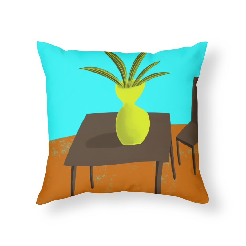 Yellow Vase Home Throw Pillow by Michael Pfleghaar