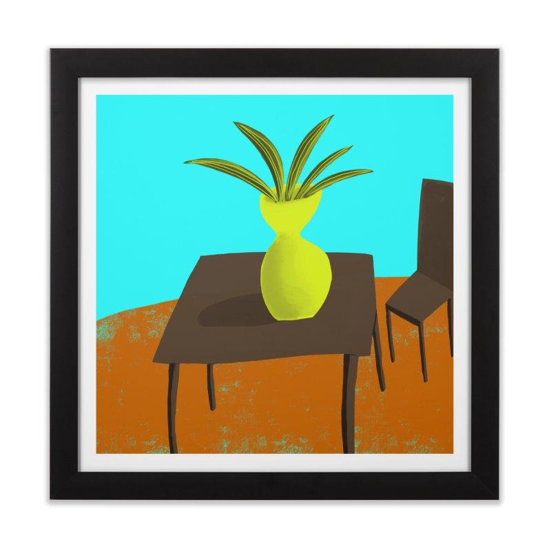 Yellow Vase Home Framed Fine Art Print by Michael Pfleghaar