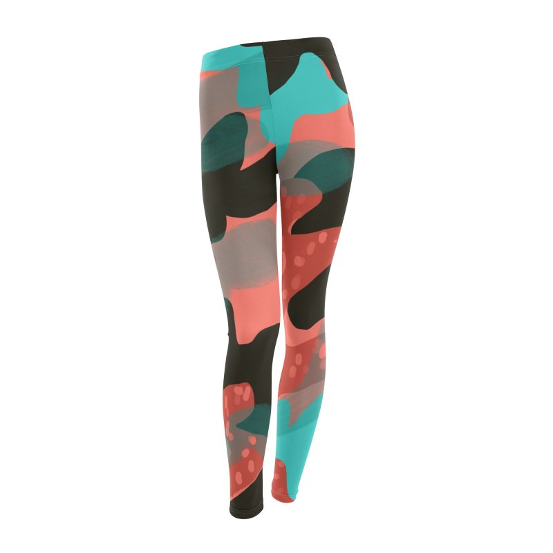 Coral Camouflage 1 in Women's Leggings Bottoms by Michael Pfleghaar