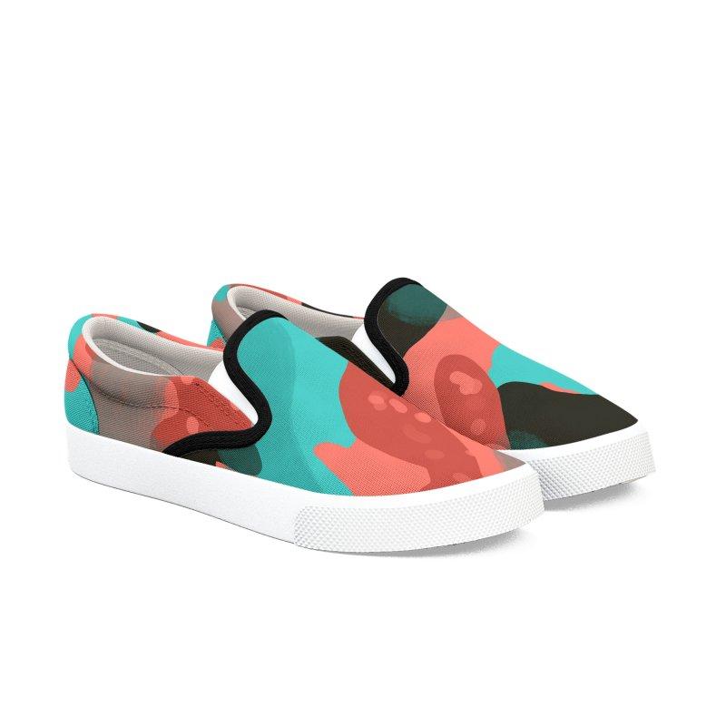 Coral Camouflage 1 Men's Slip-On Shoes by Michael Pfleghaar