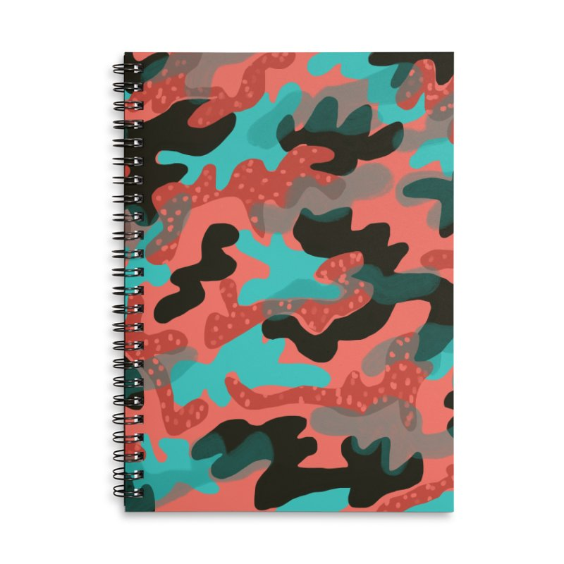 Coral Camouflage 1 Accessories Lined Spiral Notebook by Michael Pfleghaar