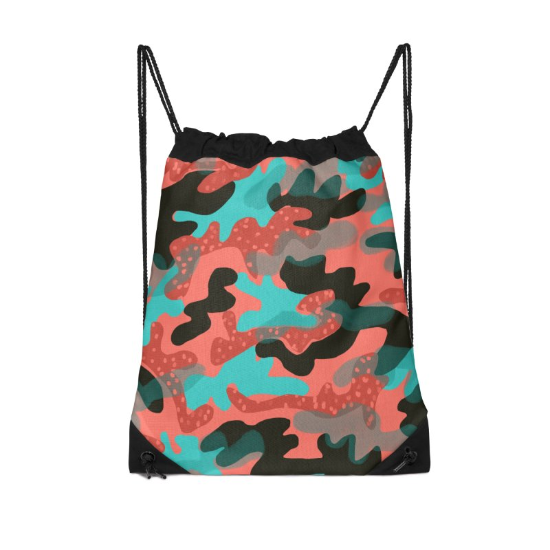 Coral Camouflage 1 Accessories Drawstring Bag Bag by Michael Pfleghaar
