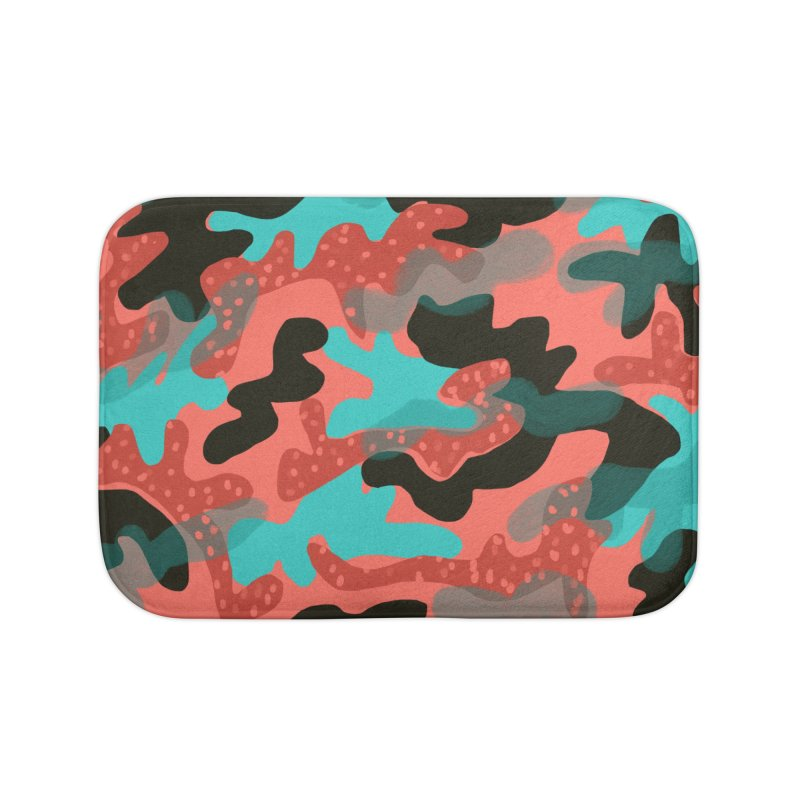 Coral Camouflage 1 Home Bath Mat by Michael Pfleghaar