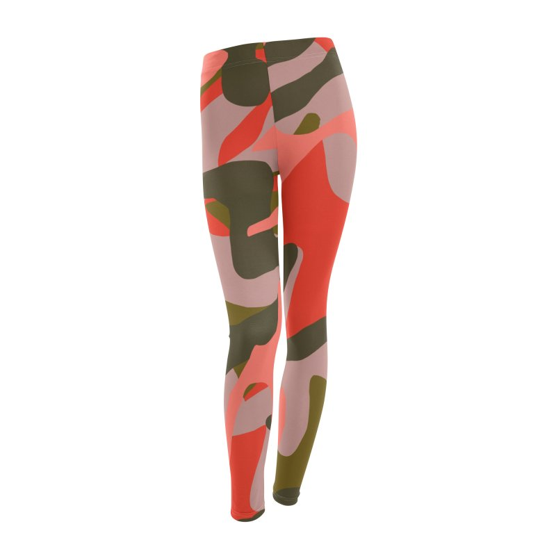 Coral Camouflage 2 in Women's Leggings Bottoms by Michael Pfleghaar