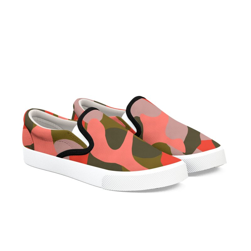 Coral Camouflage 2 in Men's Slip-On Shoes by Michael Pfleghaar