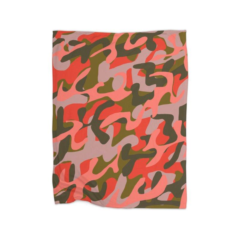 Coral Camouflage 2 Home Blanket by Michael Pfleghaar