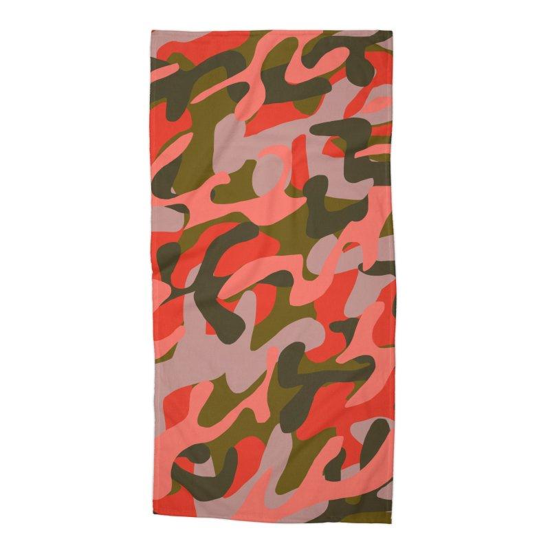 Coral Camouflage 2 Accessories Beach Towel by Michael Pfleghaar