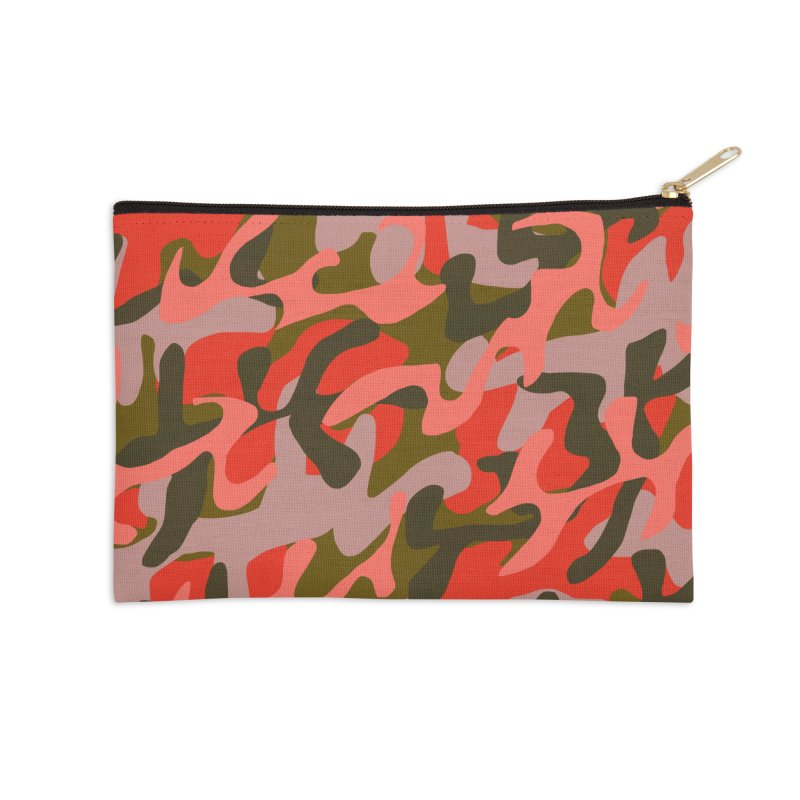 Coral Camouflage 2 Accessories Zip Pouch by Michael Pfleghaar