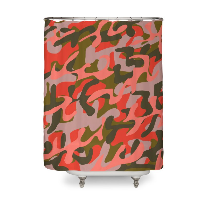Coral Camouflage 2 Home Shower Curtain by Michael Pfleghaar