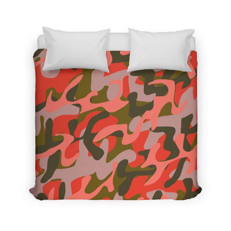 Coral Camouflage 2 Home Duvet by Michael Pfleghaar