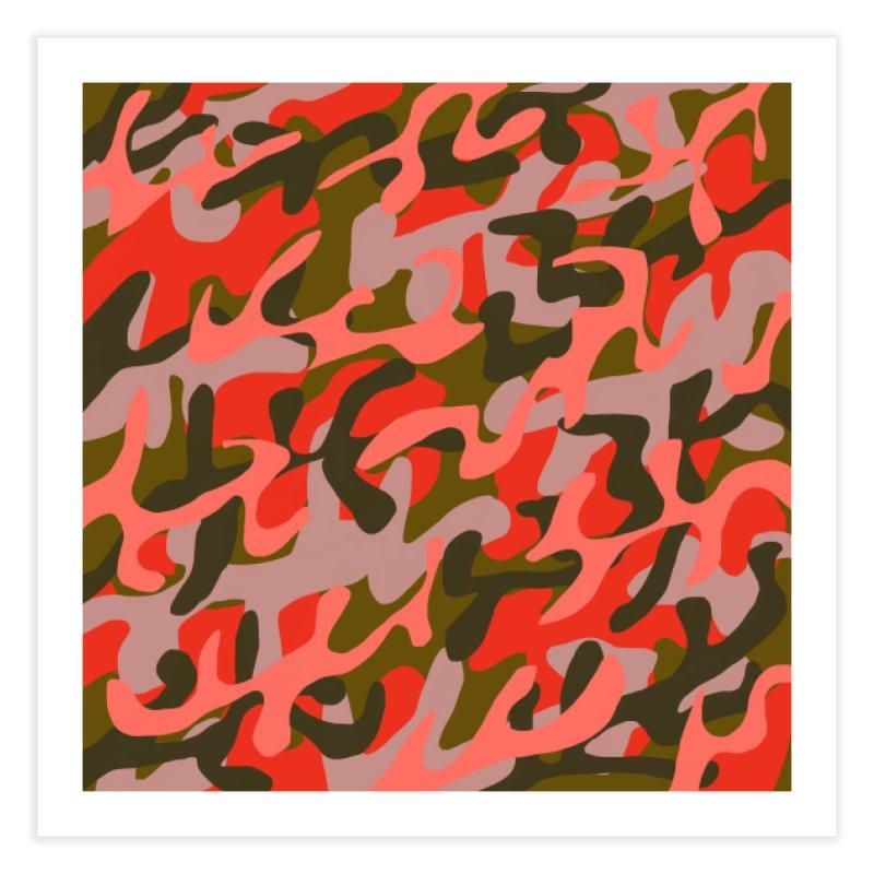 Coral Camouflage 2 Home Fine Art Print by Michael Pfleghaar