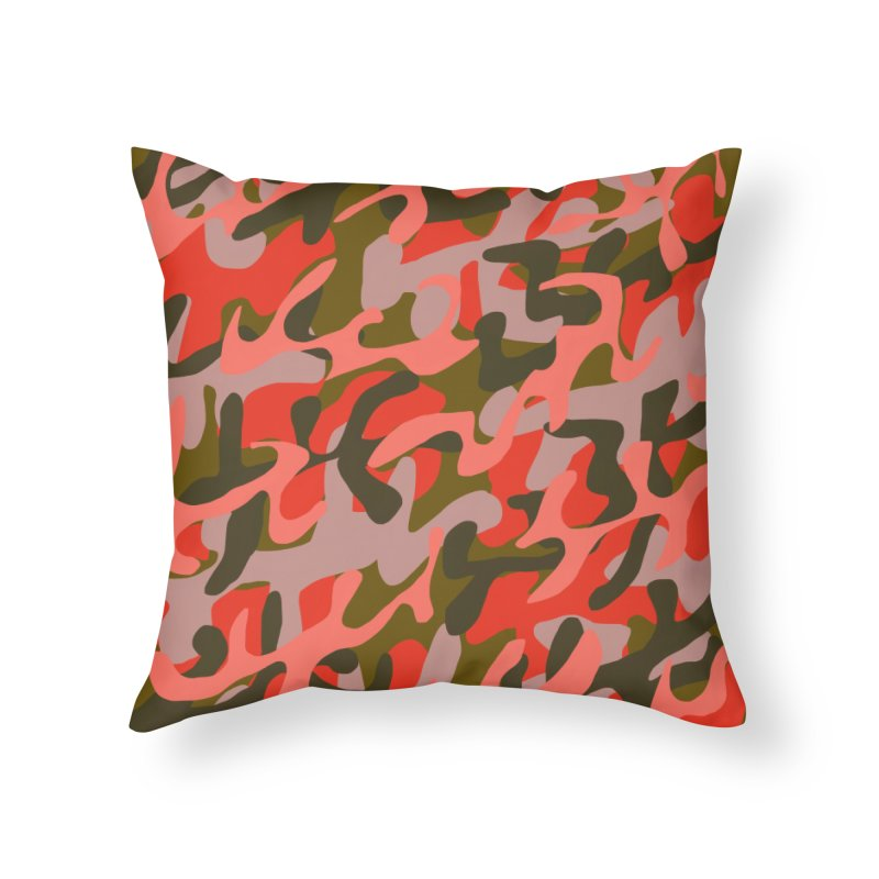 Coral Camouflage 2 in Throw Pillow by Michael Pfleghaar