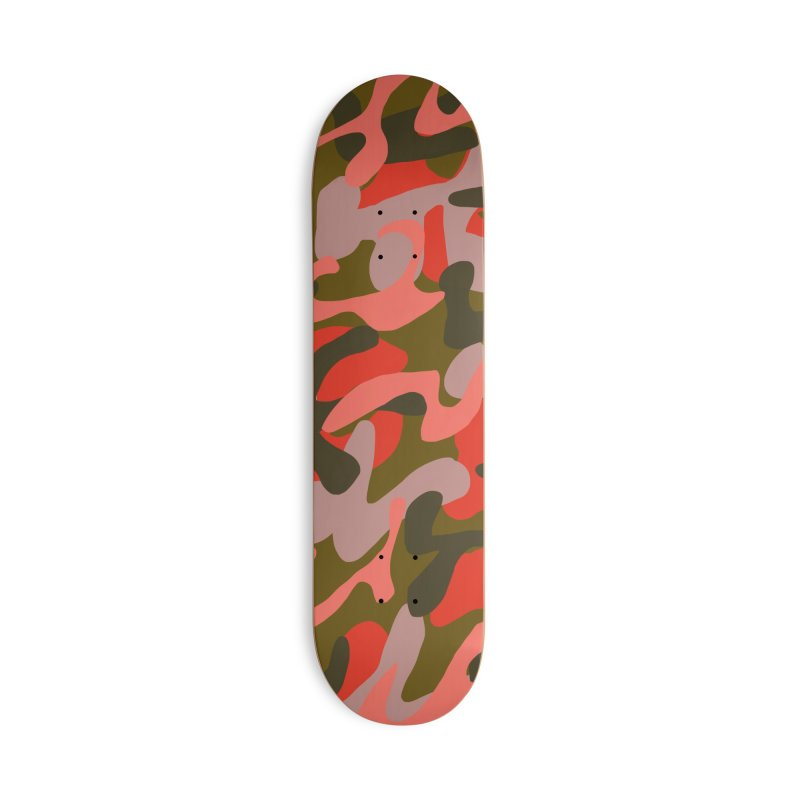 Coral Camouflage 2 Accessories Deck Only Skateboard by Michael Pfleghaar
