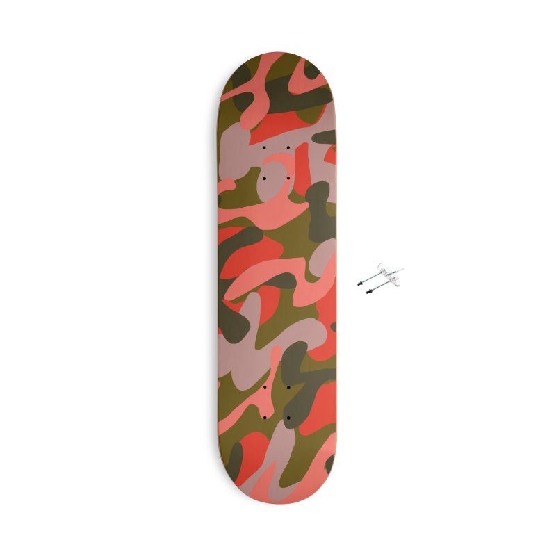 Coral Camouflage 2 Accessories With Hanging Hardware Skateboard by Michael Pfleghaar
